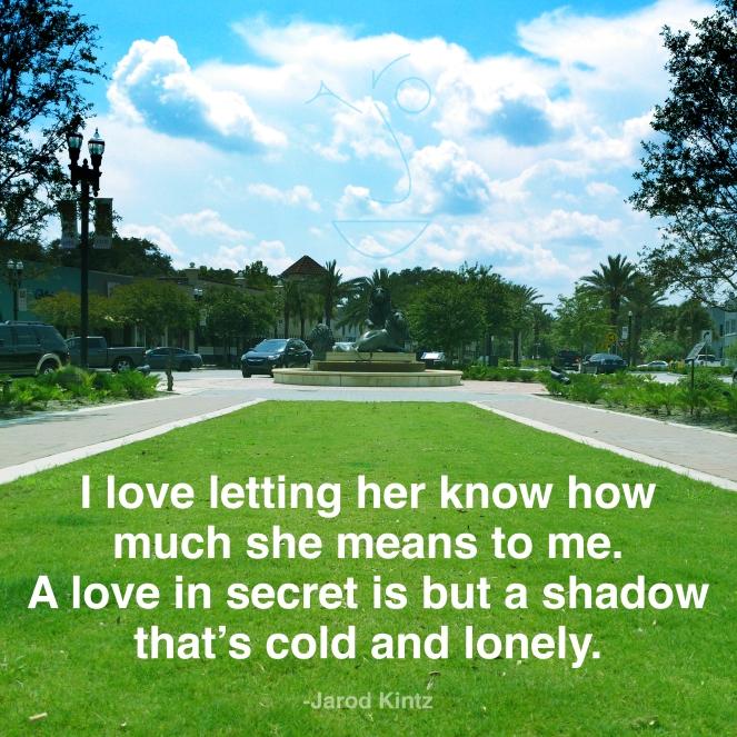 A love in secret