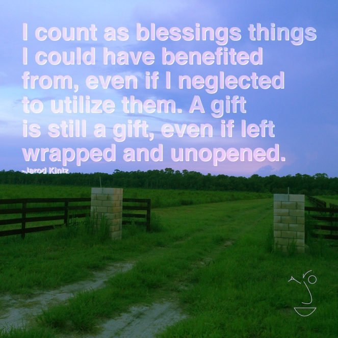 count as blessings