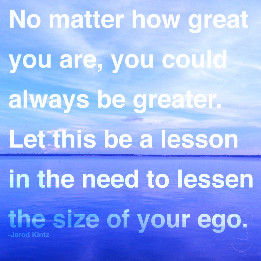 size of your ego
