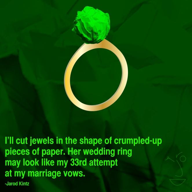 crumpled paper jewel