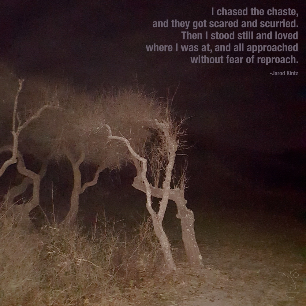 I chased the chaste